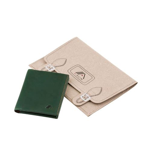 Origami Wallets - a slim leather wallet origami green wallets