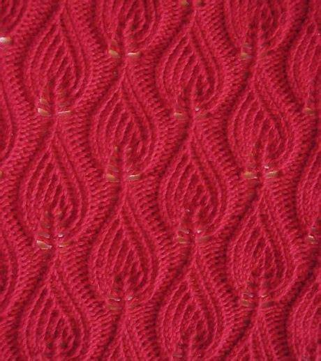 knitting yon and yrn tag lace leaf knitting kingdom
