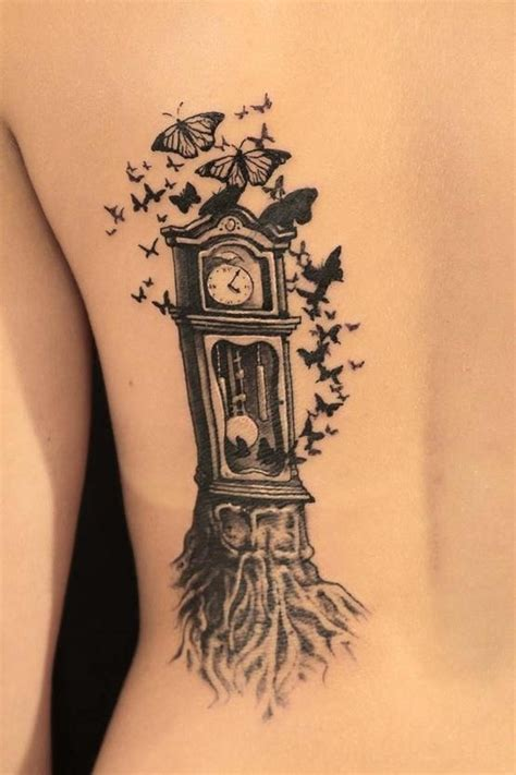 grandfather clock tattoo 32 beautiful clock tattoos for