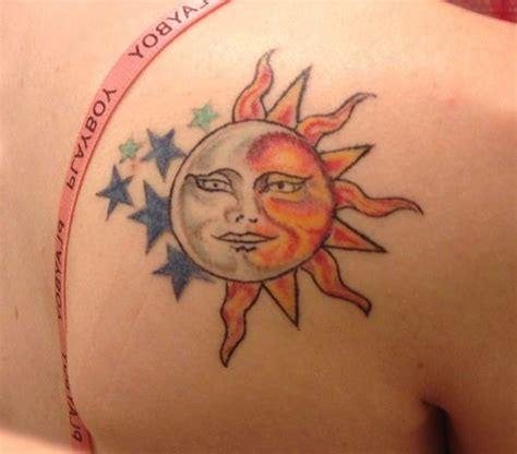 sun moon stars tattoo designs 51 shoulder tattoos