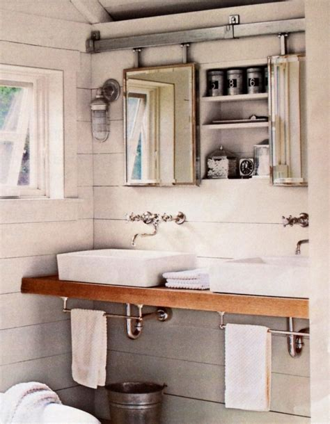 white rustic bathroom simple rustic bathroom mirror cabinet with acryclic sink