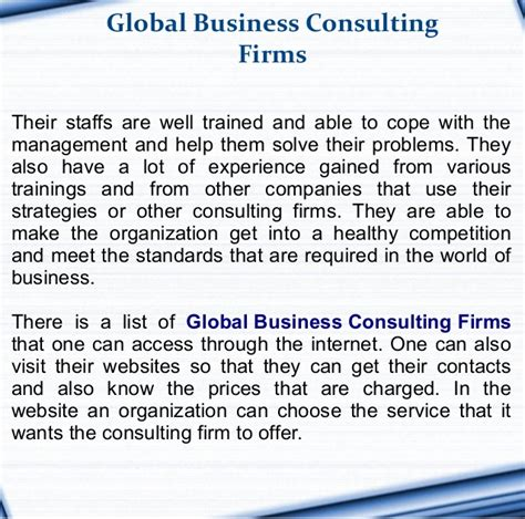 global business consulting firms