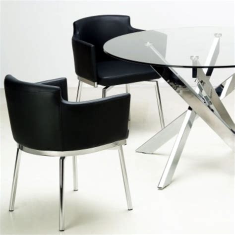 Black And Chrome Dining Chairs Chintaly Dusty Club Style Swivel Arm Dining Chair In Black And Chrome Dusty Ac Blk Kd