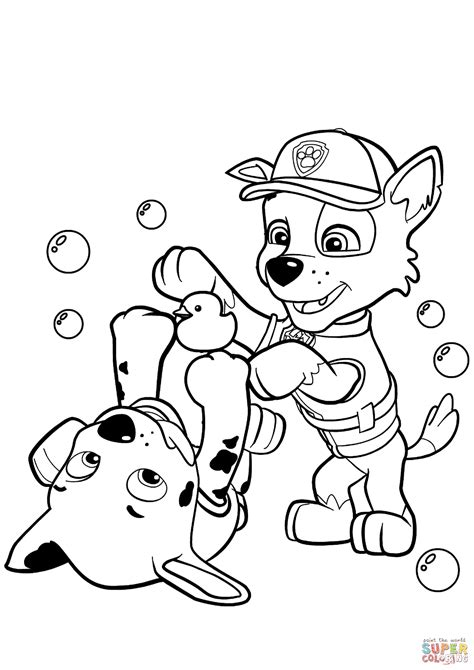 marshal paw patrol free colouring pages
