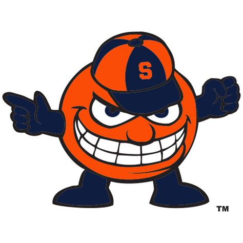 logo syracuse university orange smiling teeth otto the