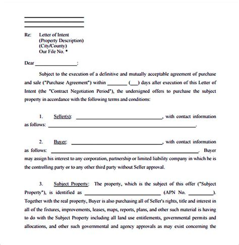 Letter Of Intent Free Pdf Make The Letter Of Interest Worth Reading