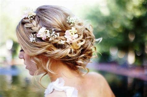 Frisur Hochzeit Blumen by Geflochtene Hochzeit Frisuren Mit Blumen Inspiration