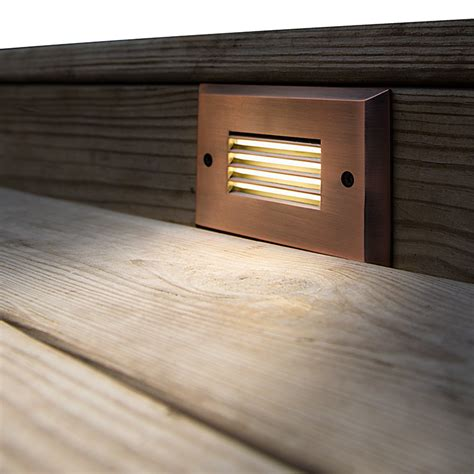 deck step lights 12v led step light with louvered faceplate bright leds