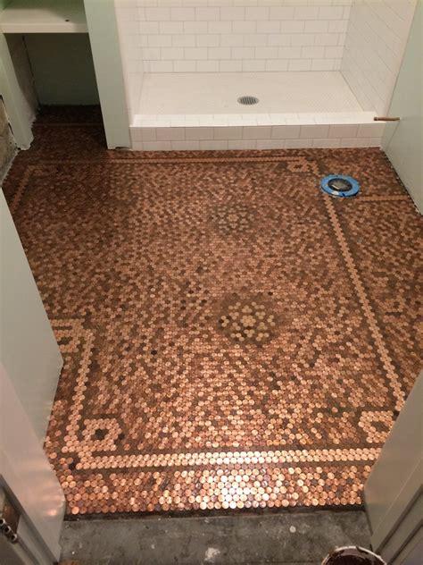 http www prettypurpledoor com penny floor submit penny pinterest house flooring ideas