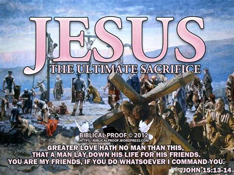 jesus the ultimate sacrifice biblical proof