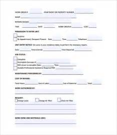 workorder template business work order forms free studio design gallery