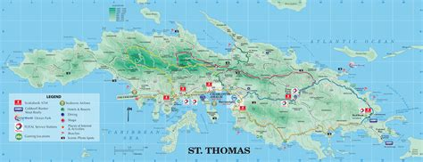 map st islands large detailed road and tourist map of st u s
