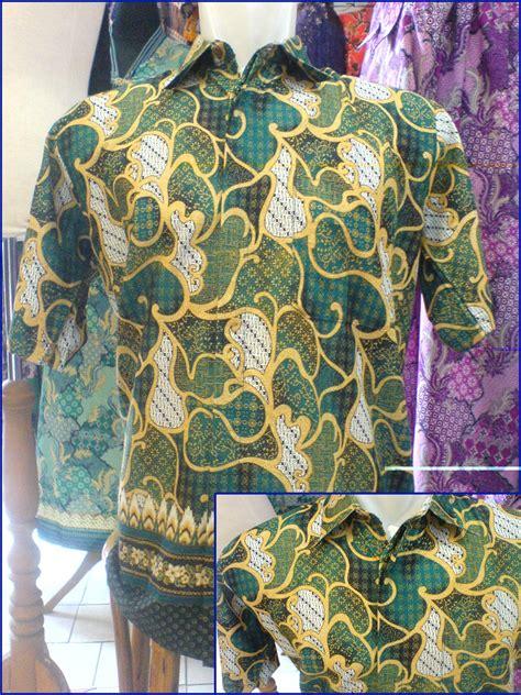 aneka kemeja batik pria bermacam bahan  motive batik