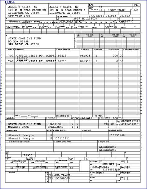 ub 04 form template ub 04 form template www rule of us