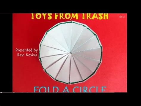 Paper Folding Activities In Mathematics - fold a circle telugu maths with paper folding