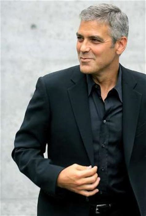 Clooney Attends Armanis Menswear Show by Armani Clooney Show Ageing Can Be Fashion