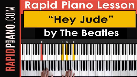 tutorial piano hey jude how to play quot hey jude quot by the beatles piano lesson