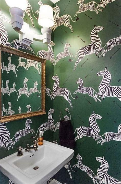 green wallpaper with zebras scalamandr 233 zebras