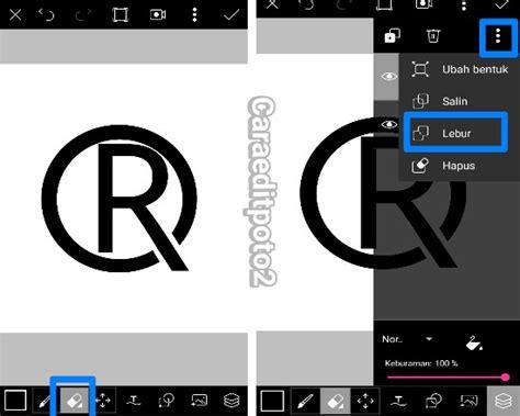 cara membuat watermark pada foto android cara mudah membuat logo 3d di picsart android