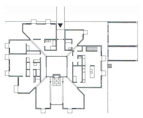 Imgs For Gt Louis Kahn Esherick House Plans | the plan is a society of rooms goldenberg house by louis
