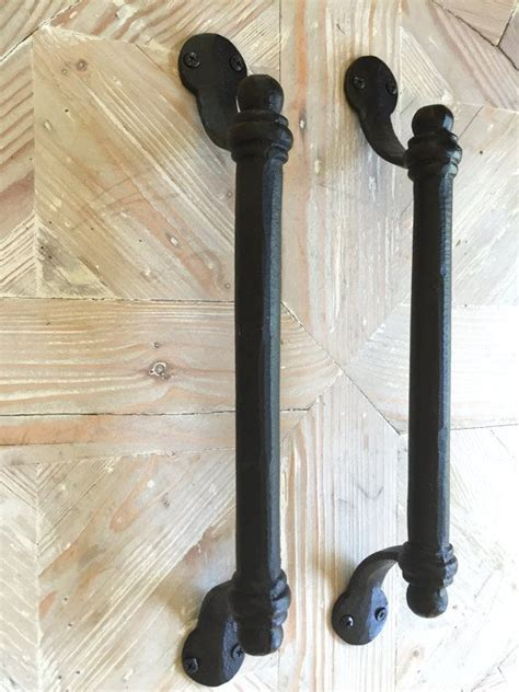 black iron pull bar handle barn door handle large drawer