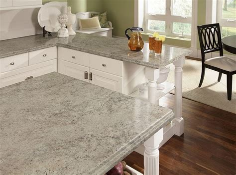 White Marble Laminate Countertops by White Cabinets With Wilsonart Madura Pearl Countertop