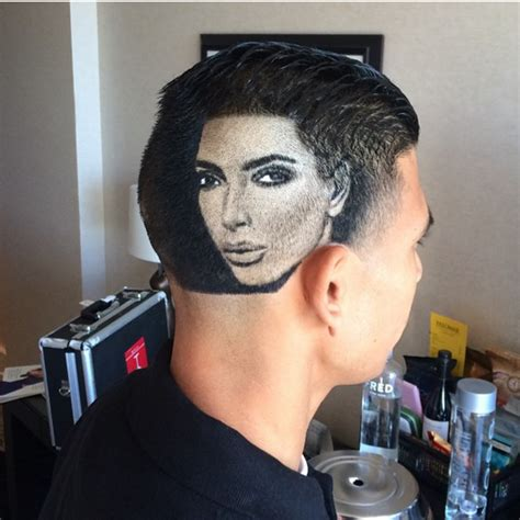 shaved lines in hair this barber shaved an impressive portrait of kim