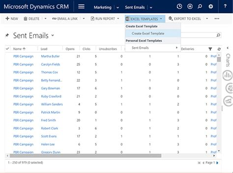 Powerful Reporting With Excel Templates Blog Xrm Excel Crm Template Format