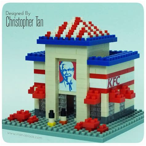 Sembo Block Fried Chicken Store christopher nanoblock vintage kfc restaurant