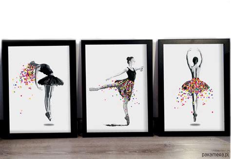 Plakat Grafika by Plakat Tryptyk 50x70 Baletnice 3szt Dodatki Plakaty