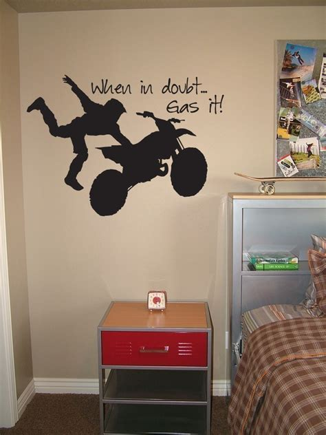 fox racing bedroom decor wall decal dirt bike wall decals for home decorating dirt