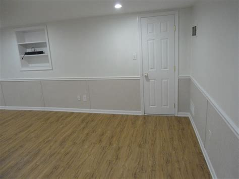 wall half wood panels basement waterproofing company in nj