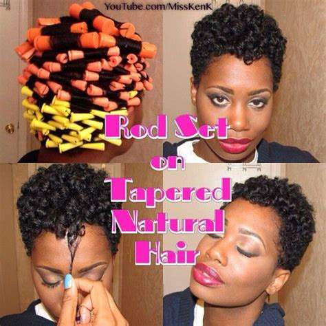 best gel for tapered relaxed hair rod set on tapered natural hair short natural hair