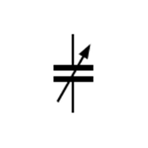 symbol for variable capacitor capacitor symbols electric condensers