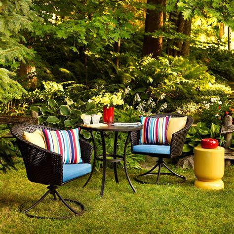 Outdoor Patio Bistro Set by Garden Treasures Sandyfield 3 Wicker Patio Bistro