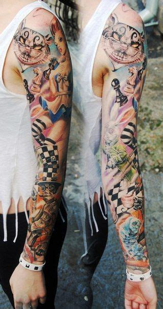 alice in wonderland tattoo sleeve 25 best ideas about on