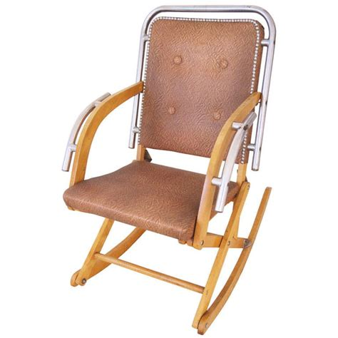 folding rocking chair canadian mid century modern folding rocking chair in