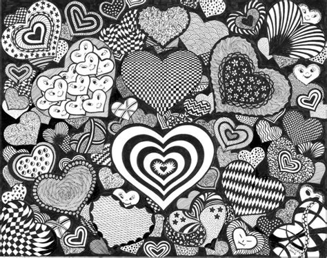 free doodle hearts hearts