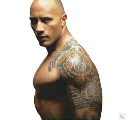 Dwayne Johnson Fake Tattoo | cool dwayne johnson temporary tattoo stickers punk rock