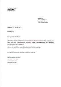 Offizieller Brief Musterbeispiel K 252 Ndigung Vorlage Arbeitsvertrag Schweiz Muster Und Vorlagen Kostenlos