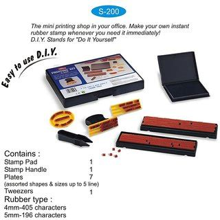rubber st printing kit buy rubber st easy to use diy printing self
