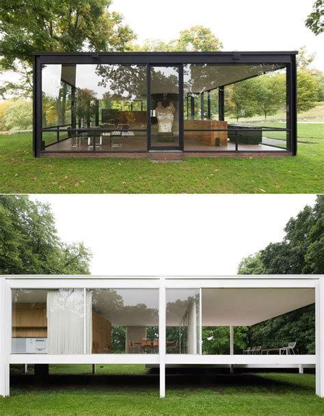 Farnsworth House by Side By Side Farnsworth House Vs Glass House By Robin