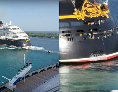 boat or ship in dream full steam ahead disney cruise ship rams dock after