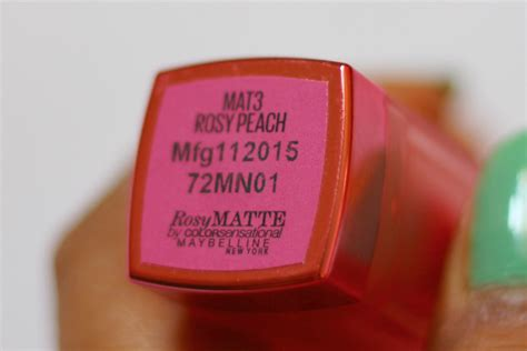 Maybelline Rosy Matte maybelline rosy rosy matte mat3 lipstick review