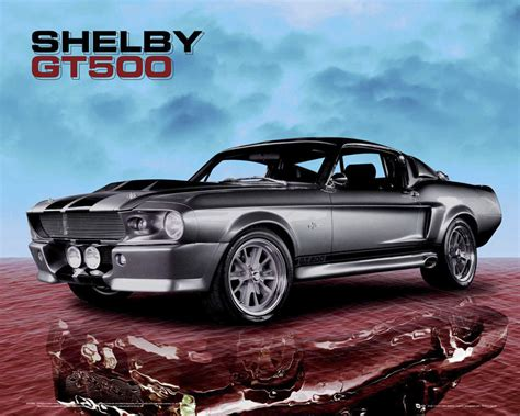 Mustang Auto Poster by Ford Mustang Shelby Posters