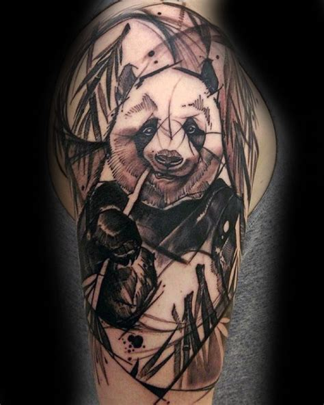 panda tattoo for man 100 panda bear tattoo designs for men manly ink ideas