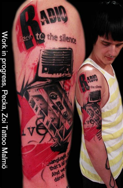 stereo tattoo designs radio black radios