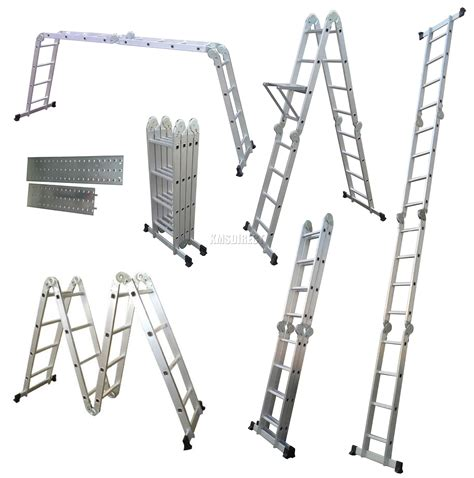Multi Purpose Ladder 4 75m multi purpose aluminium extension scaffold ladder