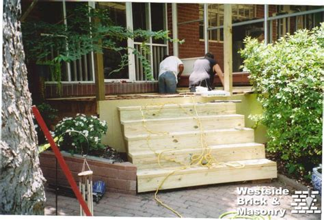 patio wood steps modern patio outdoor