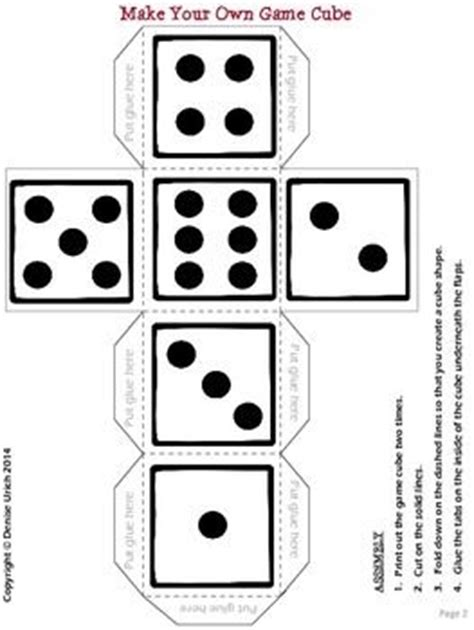 535 Best Images About Printables And Templates On Pinterest Papercraft Template And Paper Make Your Own Dice Template
